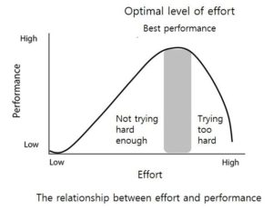 relationship betw effort and performance